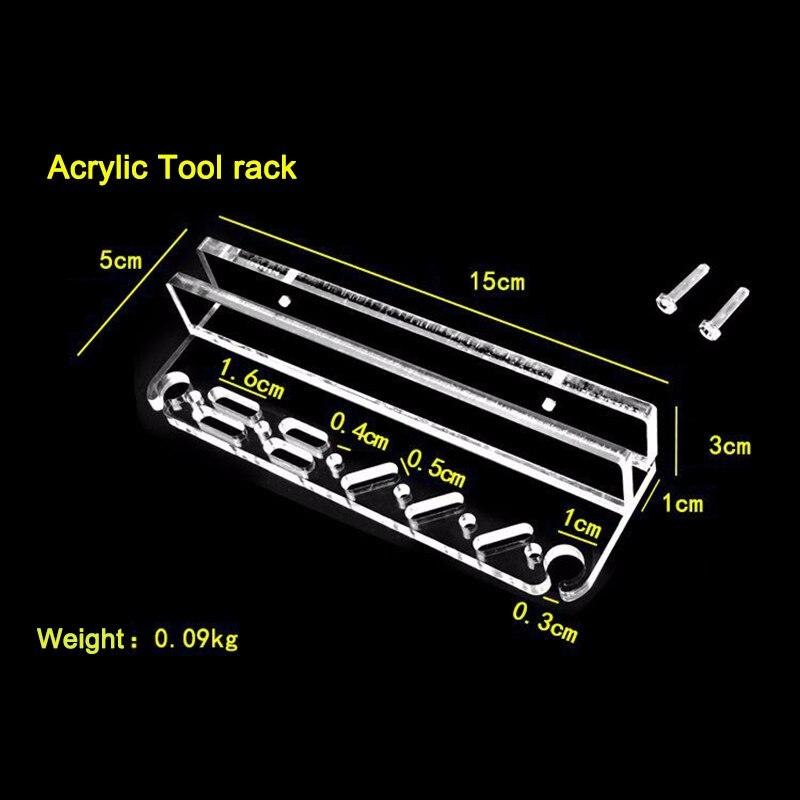 Aquarium Accessories Acrylic Practical Aquatic Tool Holder Fish Tank Cleaning Appliance Rack Scraping Scissors / Knife Storage