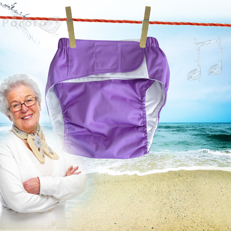 3pcs Adult Elderly People Can Wash Cloth Diapers Incontinence Waterproof Cotton Diaper Pants Old Urine Do Not Wet Diaper Pants