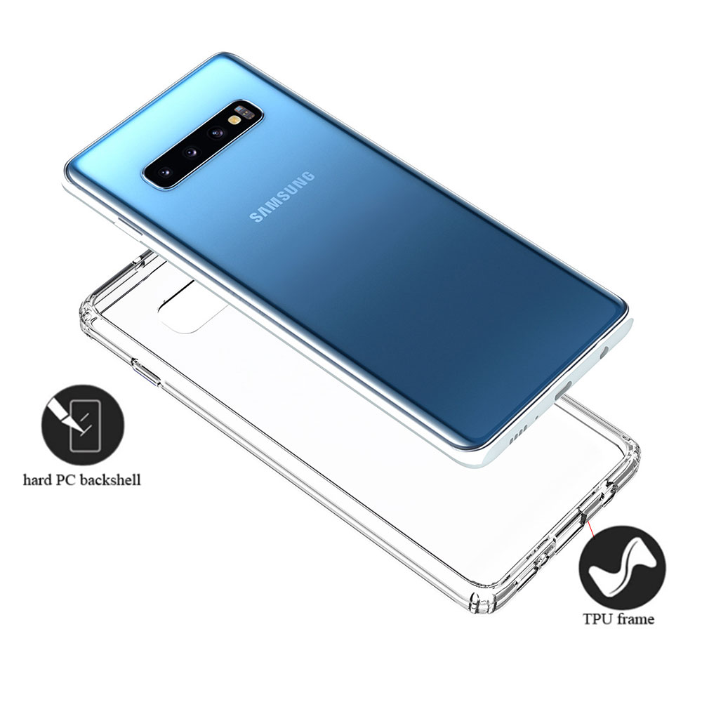 for Samsung Galaxy Note 10 Plus Case S10 Note 9 S10e 5G Shock resistant Transparent Hard Back Slim Cover Clear Protective Shell in Fitted Cases from Cellphones Telecommunications
