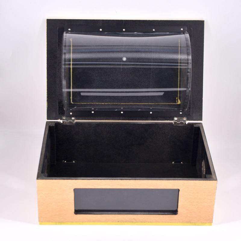 See Thru Tip - Over Box (Wooden) Dove Box Flip Over Vanish Small Animal Box Magic Tricks Magician Stage Illusions Gimmick Props
