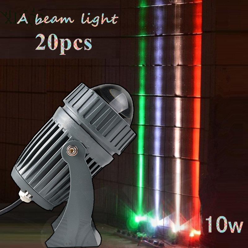 20pcs LED Wall Wash Light Ultra Bright LED Floodlight 10w multicolor Waterproof A beam light Landscape