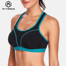 Attraco Women Sports Bra High Impact Support Backless Yoga Running Workout Underwear Professional Fitness Top