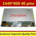 """14.1 """"lcd de matriz lp141wp2-tlb1 ltn141bt04 lp141wp2 tlb1 para lenovo thinkpad t400 r400 notbook reemplazo de la pantalla 1440*900 40pin"""