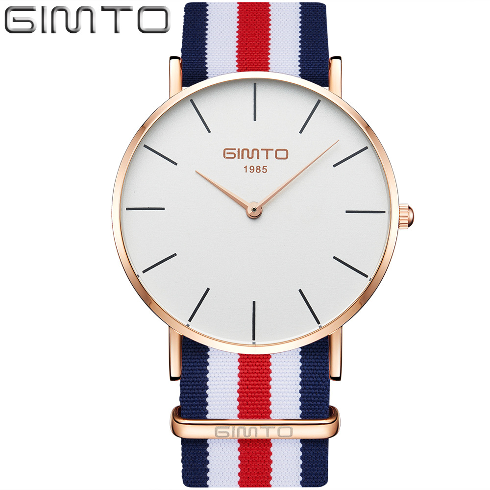 Fashion Rose Gold Casual Men Watch Super Star Simple Nylon New Trend Man Women Quartz Wristwatch 5 Model Waterpoof Lover's Clock 2017 new casual and fashion quartz watch with multicolor nylon cloth watchband wristwatch simple designer women clock orologio
