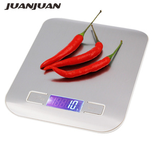 5000g 5kg 1g Digital Scale Kitchen Weight electronic weighing balance Slim Stainless Steel Platform Cooking Tools scale 28%off(China)