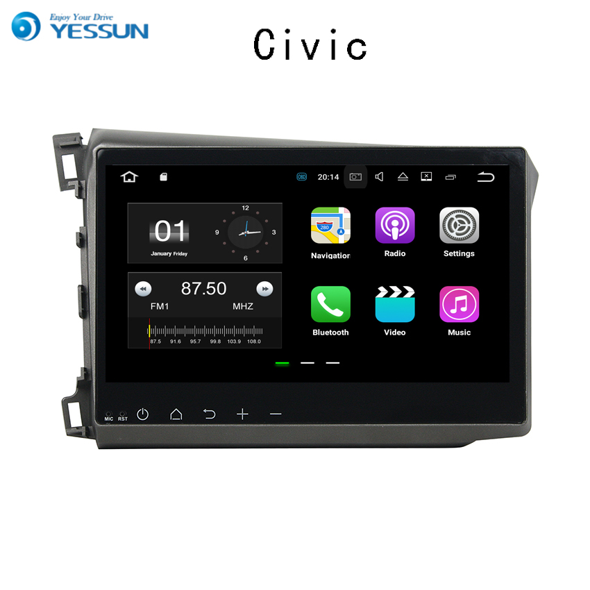 YESSUN For Honda Civic 2012~2014 Car Navigation GPS Android HD Touch Screen Audio Video Radio Stereo Multimedia Player No CD DVD