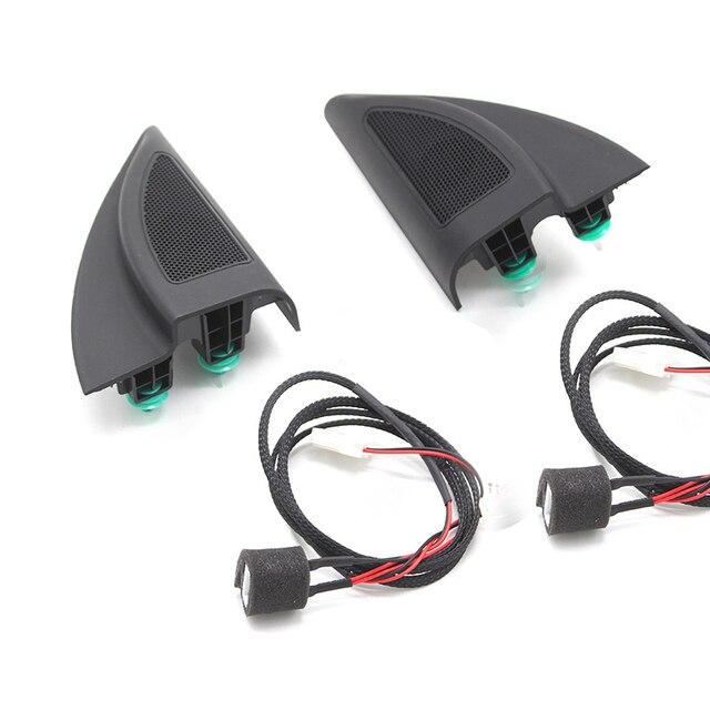 Dla Hyundai Solaris 2017 ACCENT 2018 końcówka w formie trójkąta głośnik wysokotonowy głośnik samochodowy audio trąbka głośniki wysokotonowy z przewodem