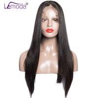 LeModa Full Lace Human Hair Wigs Brazilian Straight Hair Wigs For Black Women 200% Density Glueless Full Lace Wigs Remy Wig