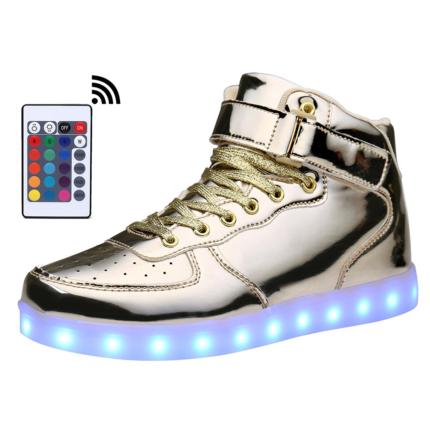 KRIATIV Adult Kids USB Charging High Top LED Shoes Light Up Flashing Sneakers Glowing Luminous Slippers