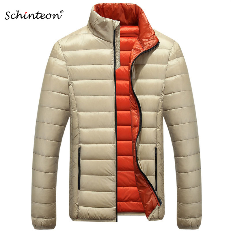 2018 Men Down Coat Winter Jacket Outwear Overcoat Ultralight Warm Fashion Stand Collar Travel Pocketable Portable Men's Clothing