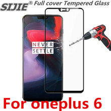 Full cover Tempered Glass For oneplus 6 1+6 Screen protective black white smartphone toughened display on clear frame