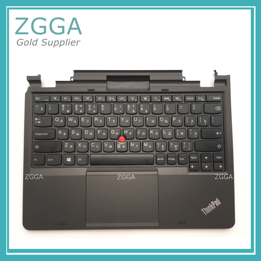 New Original RU Keyboard Bezel for Lenovo ThinkPad X1 Helix Gen 1 Palmrest Upper Case Russian Keys RU KBD with Touchpad 04X0644 genuine new for lenovo thinkpad x1 helix 2nd 20cg 20ch ultrabook pro keyboard us layout backlit palmrest cover big enter