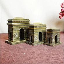 World famous building models ornaments France Paris Arc de Triomphe zinc alloy handicrafts store home decoration gifts 8cm 10cm