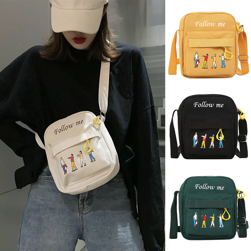 Women's Bag Fashion Simple Leisure Cartoon Shoulder Messenger Women Bags  #30