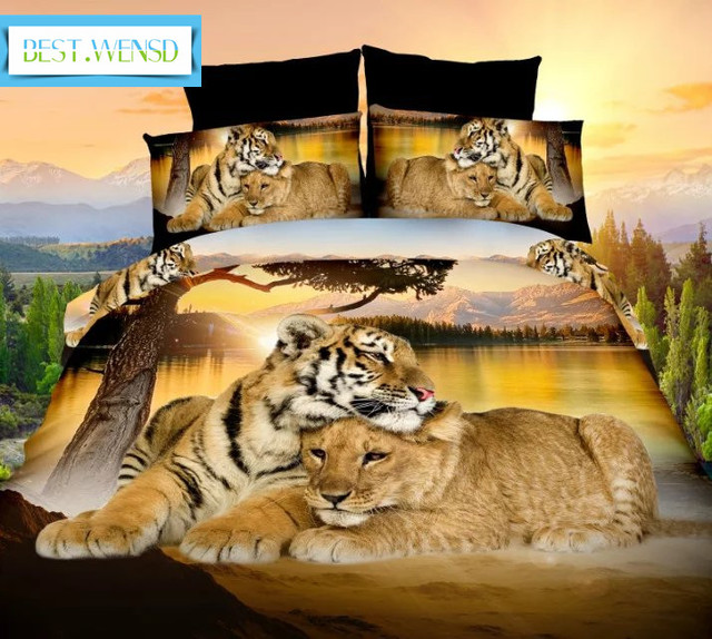 BEST.WENSD Home or Hotel Bedding Sets 1 Duvet cover+1 sheet+2 pillow cases california king bedspread 3d bedclothes beddengoed