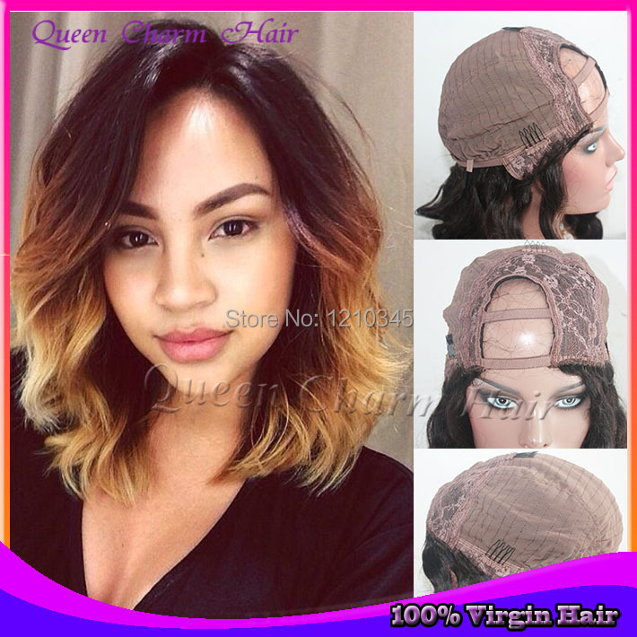 2014 New Wavy Fashion Ombre U Part Bob Wig 1b427 Color Brazilian