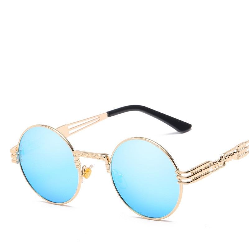 LONSY Übergroße runde Retro-Sonnenbrille Frauen Markendesignerin - Bekleidungszubehör - Foto 5