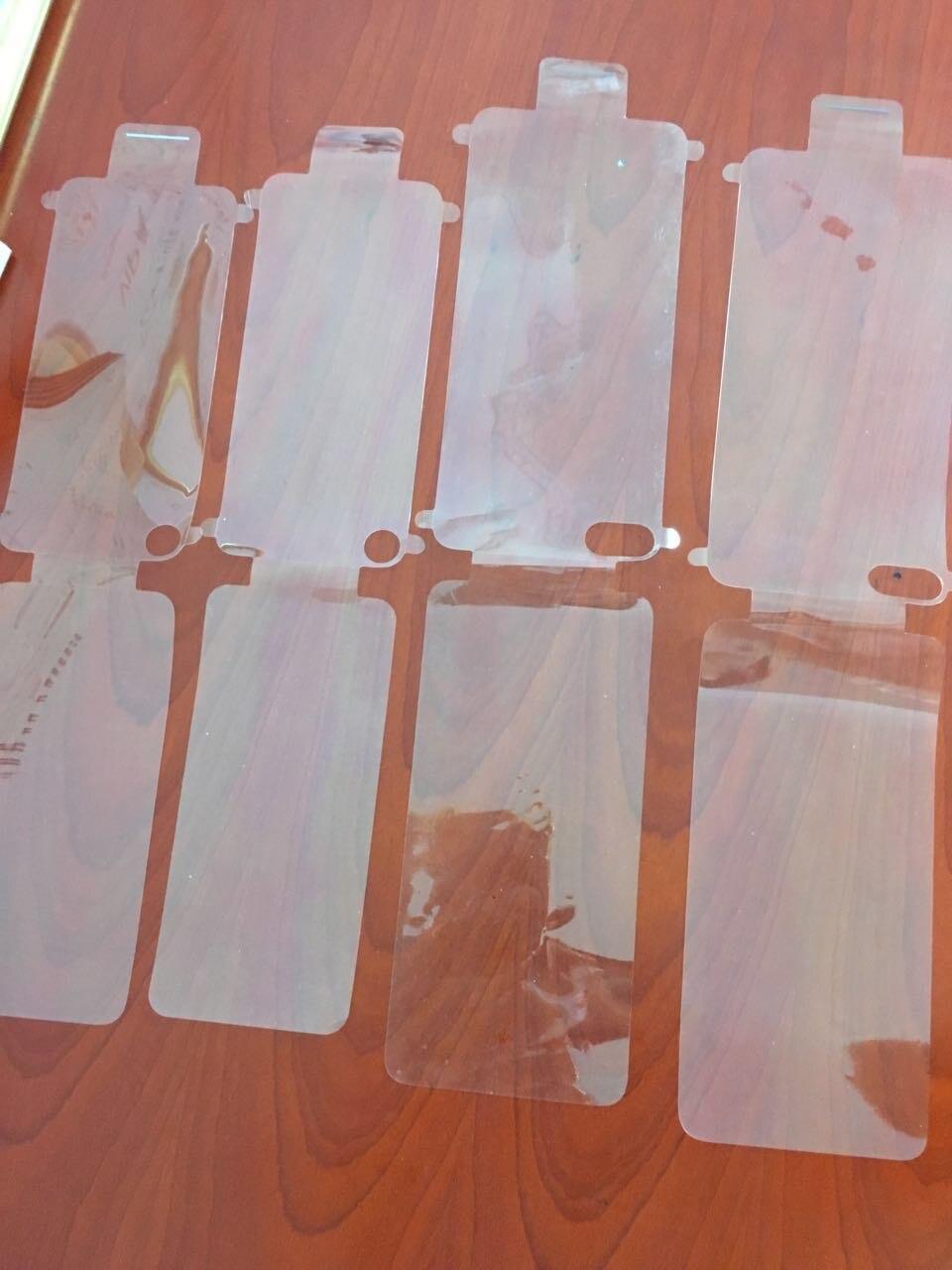 imágenes para 100 unids Front + Back De Plástico Sello de la Fábrica Protector de Pantalla de Cine Negro/Blanco para el iphone 7 7g 6 6 s plus Película Fábrica/Envío Libre