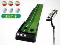 30x250 CM putting Green de Golfe Taco De Golfe Indoor Formadores Golf Training Aids com push rod
