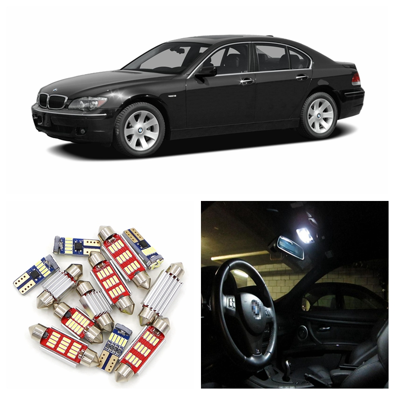 20pcs Canbus Car White Super Bright LED Light Bulbs Interior Package Kit For 2003-2008 BMW 7 Series E65 Map Dome Lamp 15pcs white canbus error free car led light bulbs interior package kit for 2002 2003 2004 audi a4 b6 map glove box door lamp