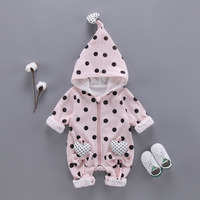 Jumpsuit Warm Newborn Infant Romper Outerwear Spring Autumn Long Sleeve Baby Clothes Baby Boy Girl Clothes