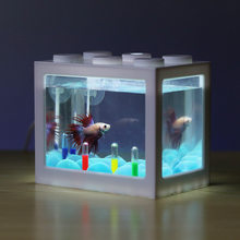 PETFORU Betta fish Fighting Cylinder Rumble Fish Cylinder Mini Aquarium Building block fish tank(China)