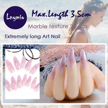 Very long tip false nail , marble series 2016 New