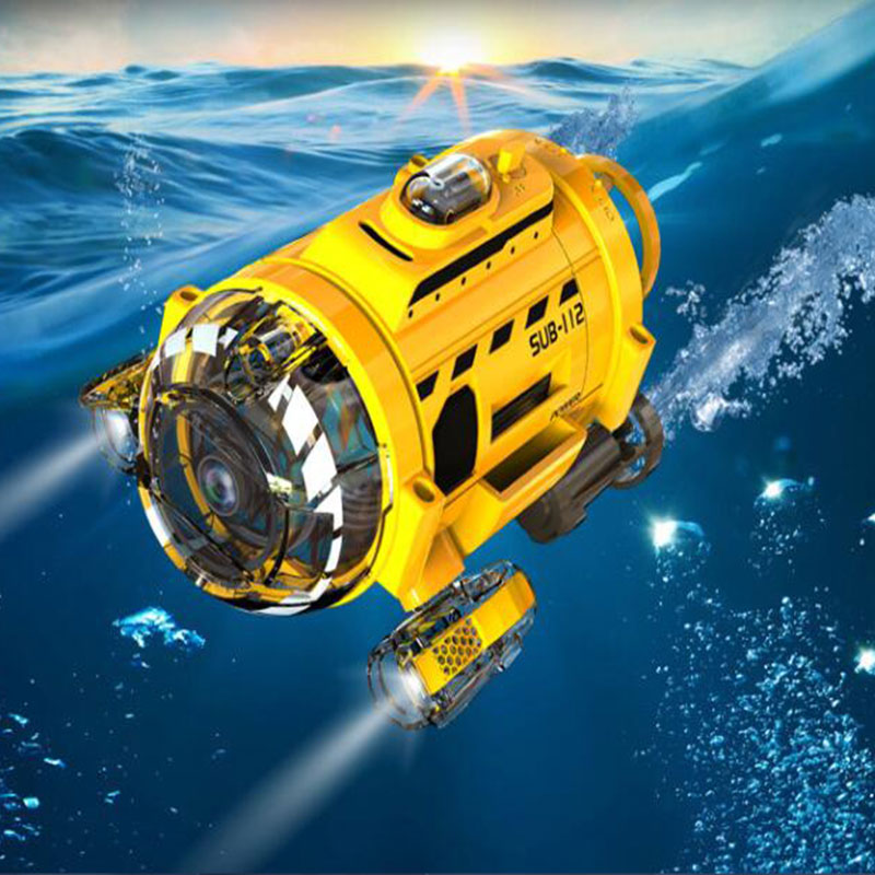 Remote Control Infrared RC Submarine with 0.3MP Camera and Light RC Toy for Kids Camera Submarine Birthday Christmas Gift