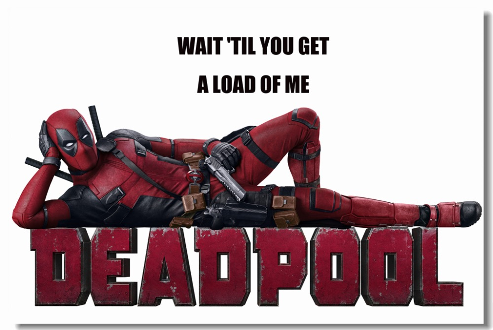 Custom Canvas Wall Decals Funny Deadpool Posters Marvel Wallpaper Wade Wilson Stickers Mural Bedroom Arts 0418 In From Home