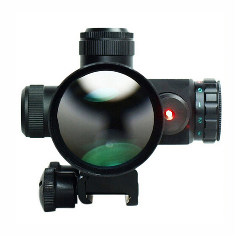 2.5-10X40 Tactical Rifle Scope with Red Laser 1