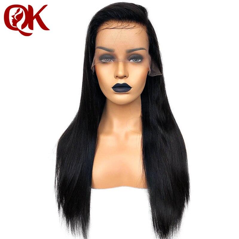 QueenKing 13*3.5 Anteriore Del Merletto dei capelli di 180% Densità Parrucche dei capelli umani per Le Donne di Colore Naturale Diritto serico di Remy del Brasiliano capelli
