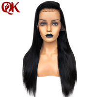QueenKing hair 180% Density 13*3.5 Lace Front human hair Wigs for Women Natural Color Silky Straight Brazilian Remy Hair