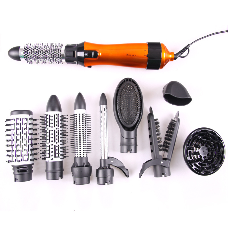 Women Styling Tools Set For Hair Salon Professional Hair Dryers With Combs Dry Hair Rotary Brush Bag PackWomen Styling Tools Set For Hair Salon Professional Hair Dryers With Combs Dry Hair Rotary Brush Bag Pack