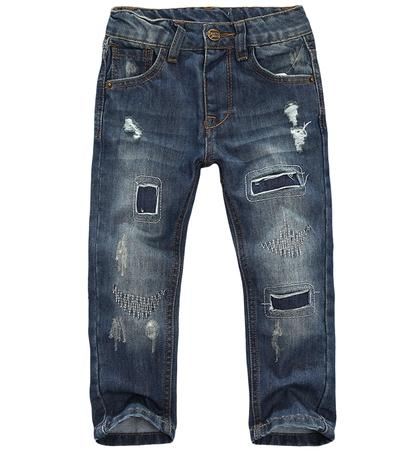 8db571fe0 Hot brand children pants paint hole kids jeans 100% cotton Denim baby boys  girls jeans Free shipping-in Jeans from Mother   Kids