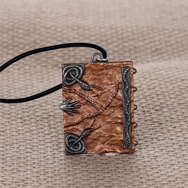 Super Fun Hocus Pocus Spell Book Long Necklace