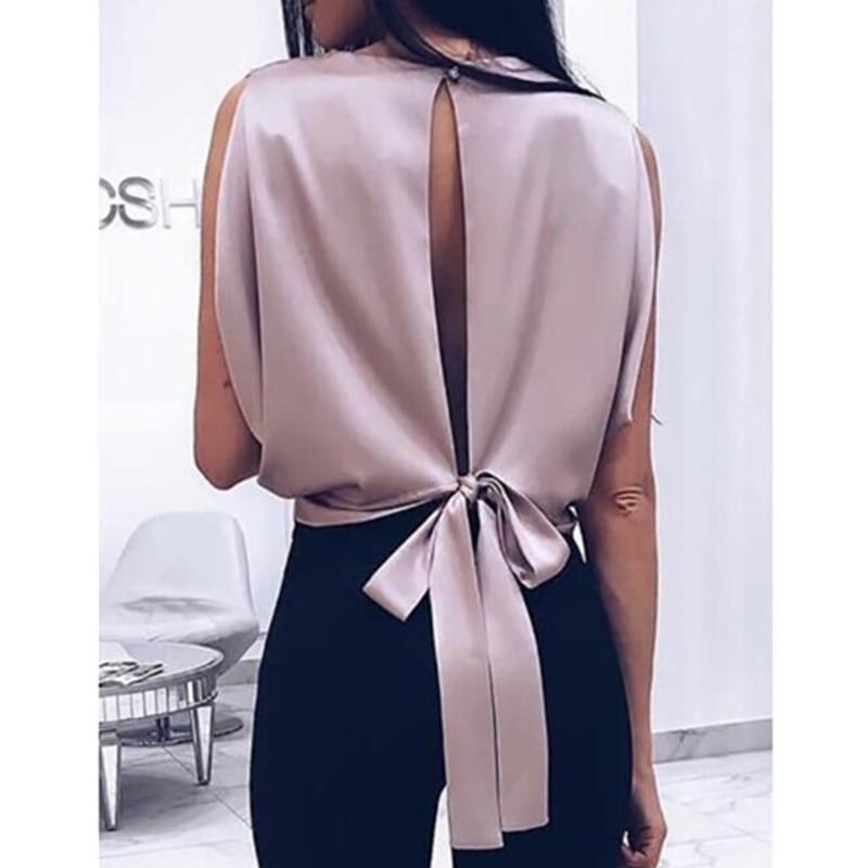 330.04руб. 30% СКИДКА|Женская блузка с бантом, Повседневная Свободная блузка большого размера на весну лето 2019|Блузки и рубашки| |  - AliExpress