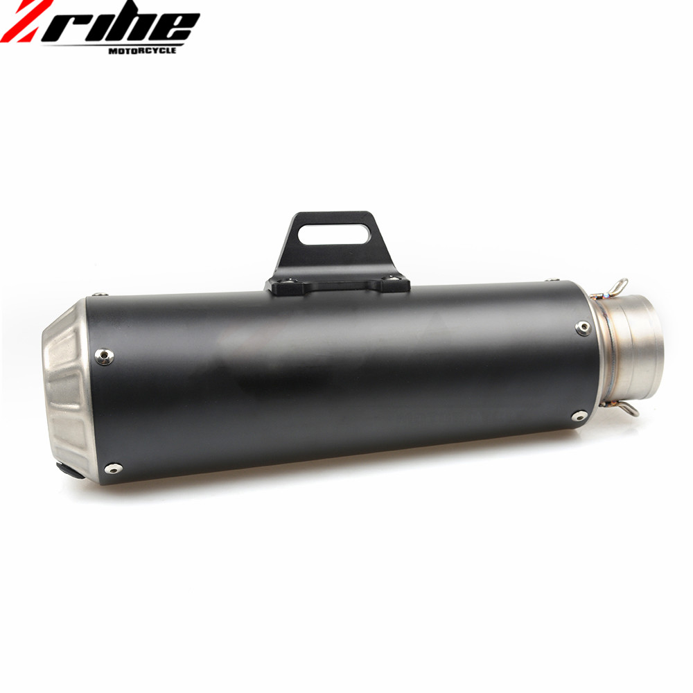 For 51mm Motorcycle Exhaust Pipe Scooter Modified Muffler Pipe Universal For SUZUKI DL650 V-STROM GSX 600F/750F GSXR1000 600 700