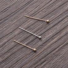 hot-1000PCs KC Gold/Gold/ Silver Plated Ball Head Pins&Needles Sewing 0.5x16mm Jewelry Findings tools Handmade Accessories