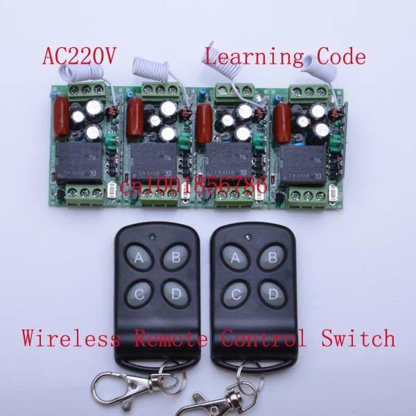 220V 10A 4CH electrc rf wireless remote control switch 315mhz 433.92mhz remote receiver transmitter220V 10A 4CH electrc rf wireless remote control switch 315mhz 433.92mhz remote receiver transmitter
