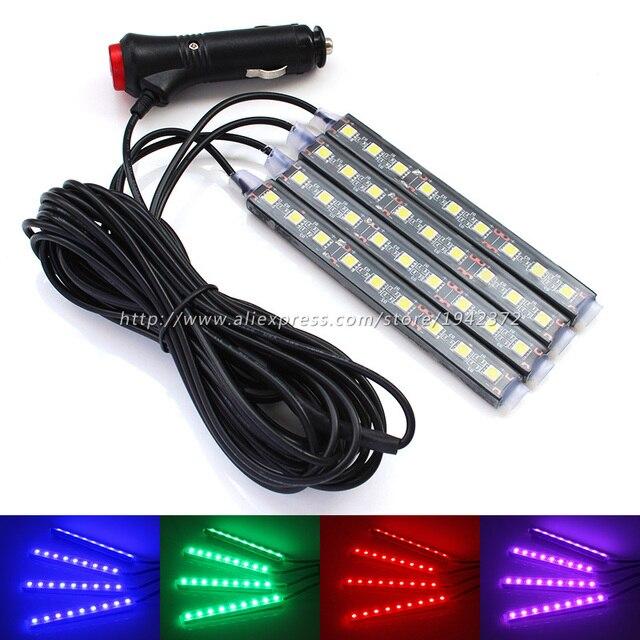 Auto RGB LED Decoratie Lamp met Sigaret Blauw Wit/Roze/Ijs Blauw ...