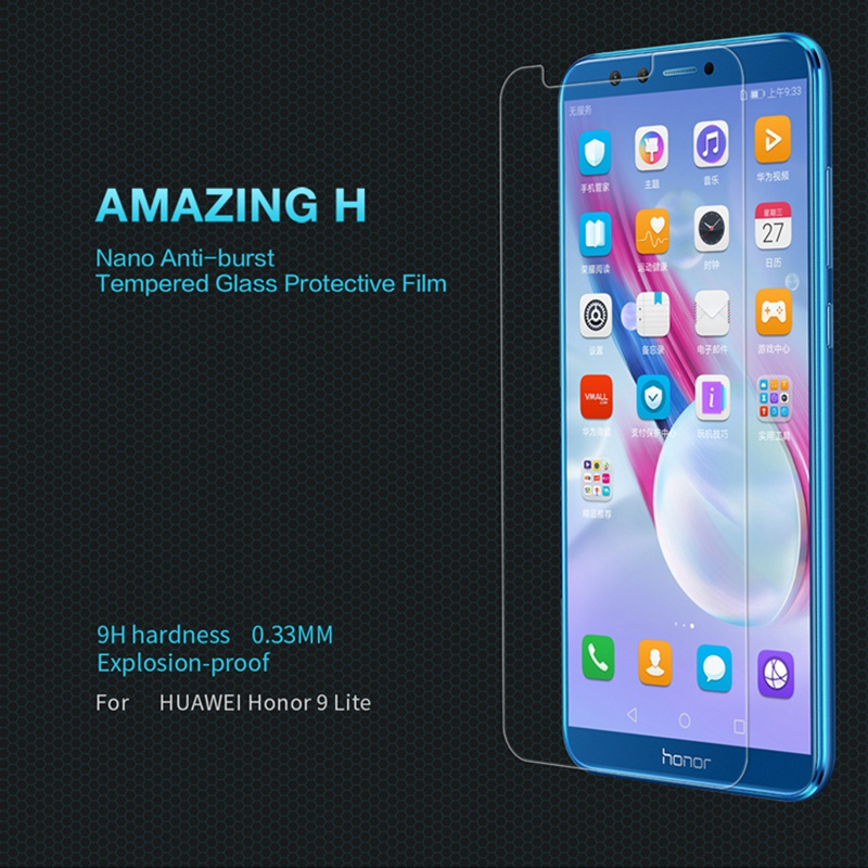 NILLKIN Amazing H 0.3mm Honor 9 Lite Tempered Glass For Huawei Honor 9 Youth Edition Dual Sim Screen Protector Protective film