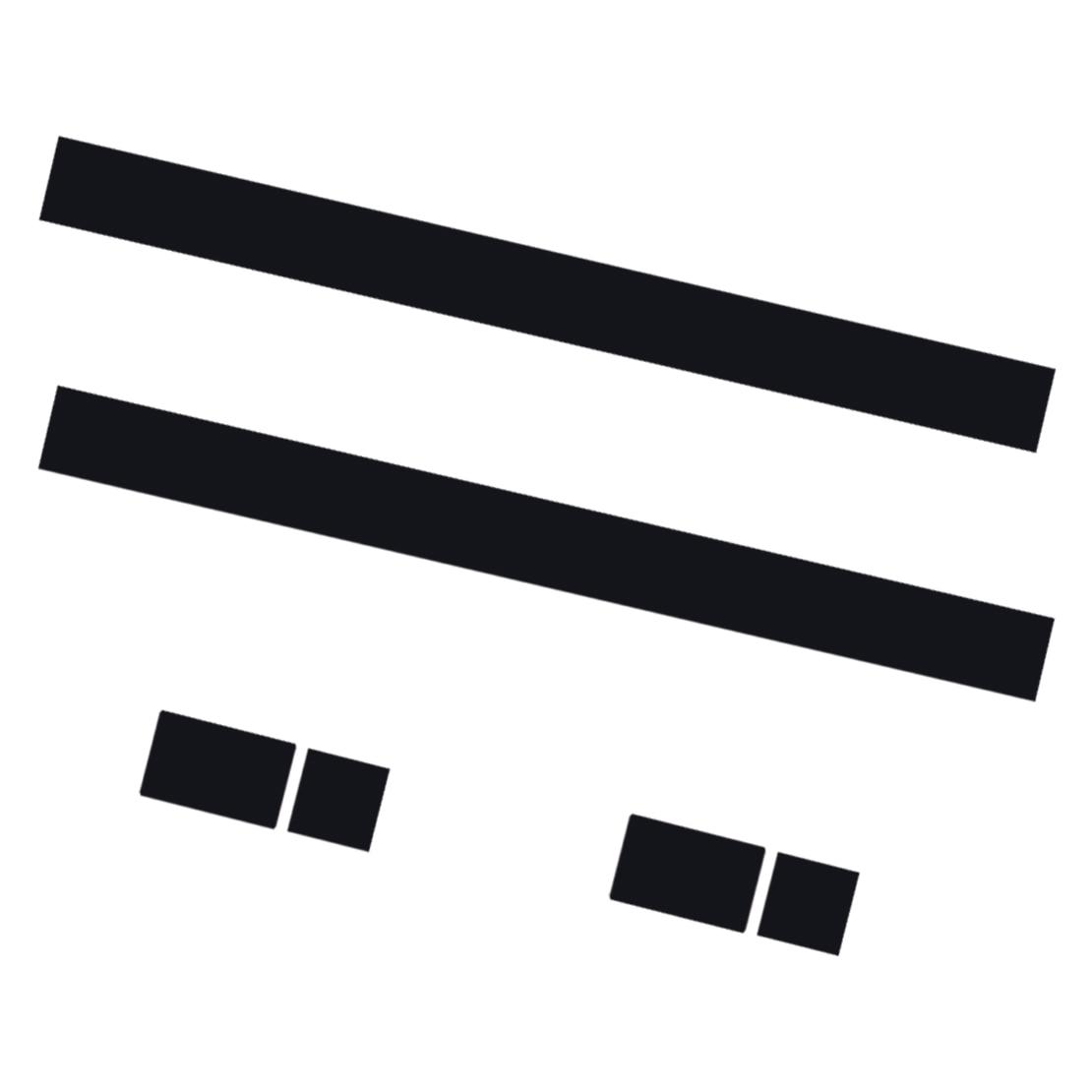 CITALL 2 шт. Автомобильный капот в полоску капот наклейка крышка виниловая наклейка подходит для MINI Cooper R50 R53 R56 R55 dWm2754536 черный/белый/красный - Название цвета: black