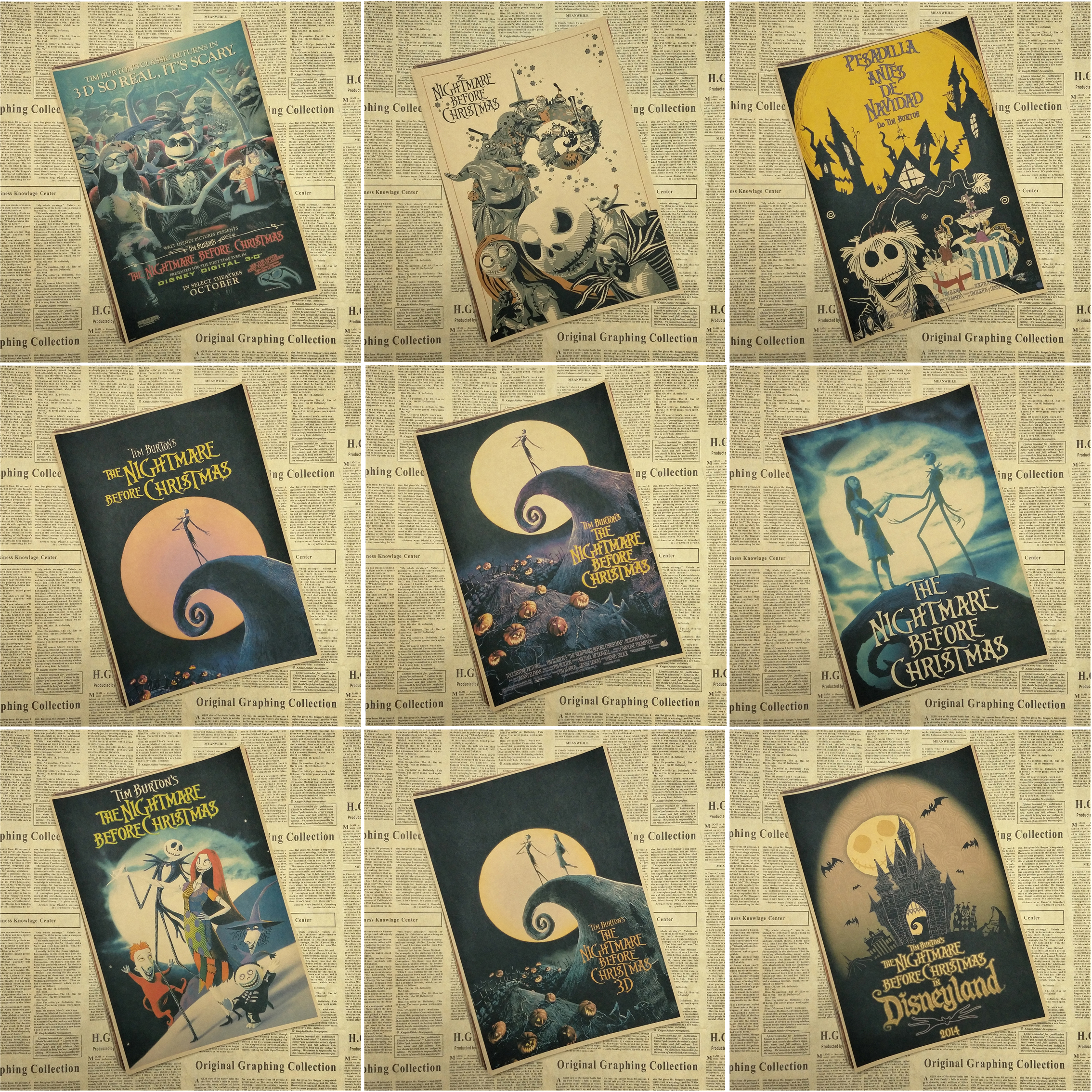 The Nightmare Before Christmas Movie Poster painting children\'s room ...