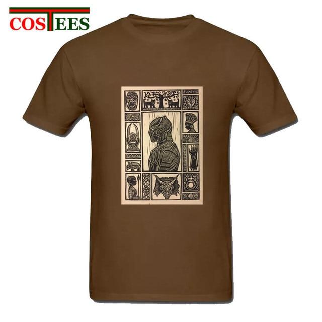8a4102c5df77 Vintage Black Panther T Shirt men Geek poster cover tshirt Novelty T-shirt  Wakanda Forever King Streetwear Retro Tee Shirt homme