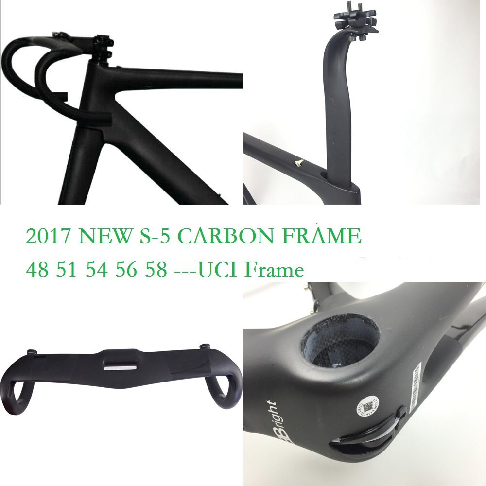 2017 new Aero FMS5 road bike frame T1000 UD carbon bicycle frameset+headset+handlebar+stem can be XDB ship цена 2017