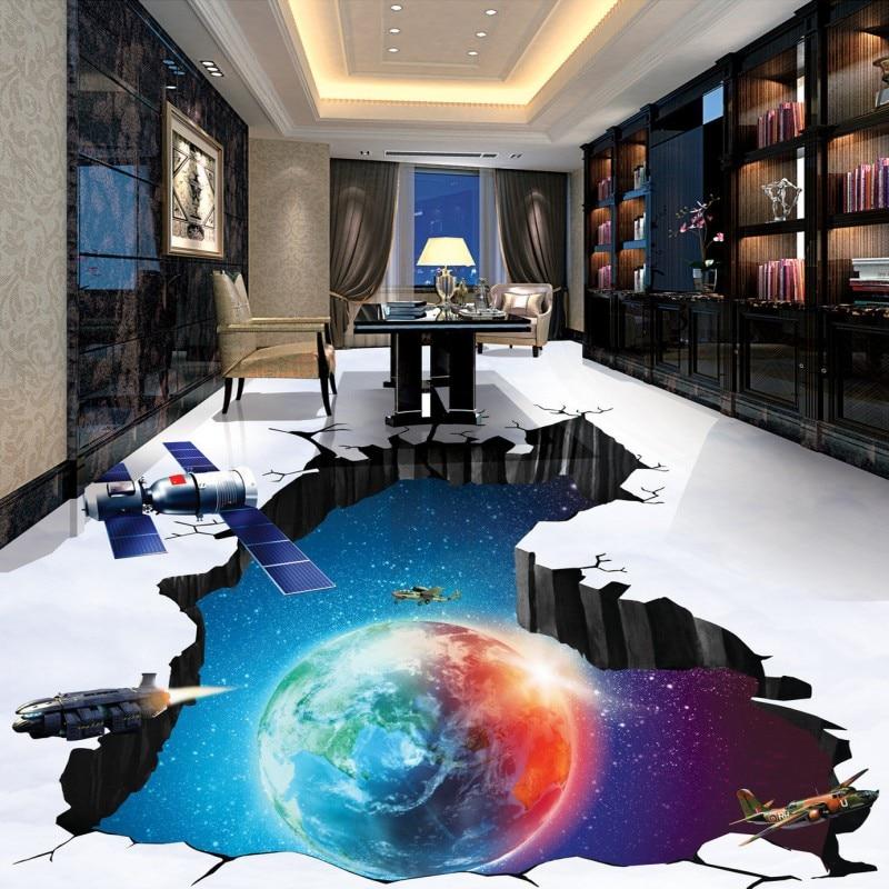 Gratis verzending photo floor Cosmic Aarde Blue Sky Ruimtevaartuig ...