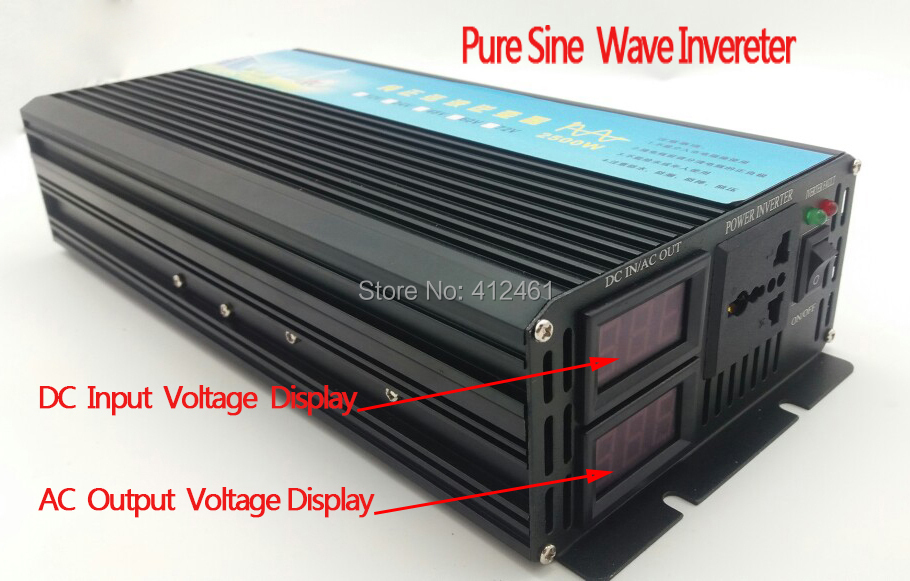 цена на 4000W peak 2000W Pure sine wave Inverter dc to ac power inverter 12V to 230V 50HZ off inverter free shipping