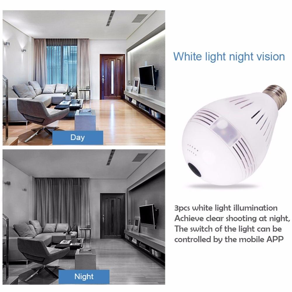 3g 4G sim карта 1080P HD Беспроводная купольная ip камера лампа Wi Fi 360 градусов рыбий глаз VR аудио домашний CCTV светильник безопасности модуль камеры - 5