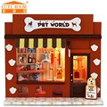 Doll house furniture miniatura diy doll houses miniature dollhouse wooden handmade toys for children birthday gift  pet shop