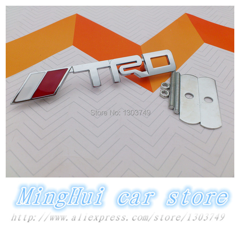 3d Trd Chrome Plated Metal Emblem Front Grille Badge For Toyot A Gt 86 Prius Auris Vios Corolla